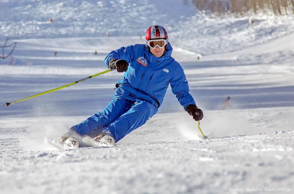 Техника катания на горных лыжах для начинающих